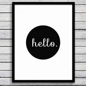 Haochu Minimalist Black White Motivational Typography screen printed English Letters Canvas Painting Art Wall Living Room decor