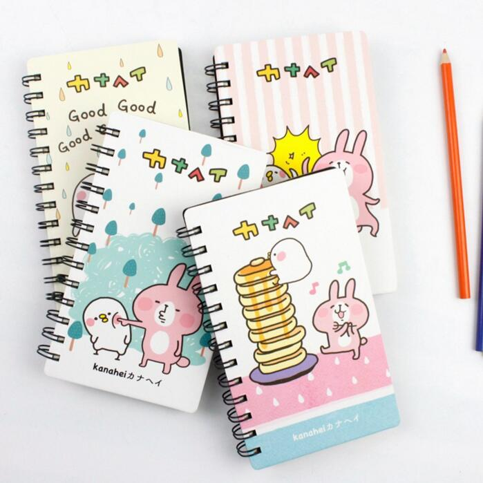 Cute Kanahei Rabbit Coil Book Vocabulary Notebook Word Diary Notepad Hand Memo Book
