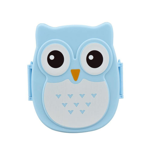 Blue Owl Shaped Portable Bento