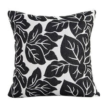 Load image into Gallery viewer, Decorative black leaf pattern pillowcase