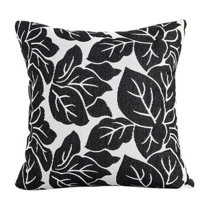 Decorative black leaf pattern pillowcase