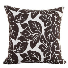 Load image into Gallery viewer, Decorative brown leaf pattern pillowcase