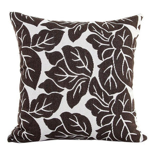 Decorative brown leaf pattern pillowcase