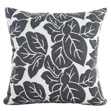 Load image into Gallery viewer, Decorative gray leaf pattern pillowcase