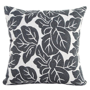 Decorative gray leaf pattern pillowcase