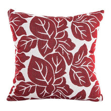 Load image into Gallery viewer, Decorative red leaf pattern pillowcase
