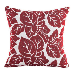 Decorative red leaf pattern pillowcase