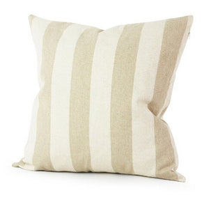 Pillow case with khaki stripes