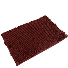 Load image into Gallery viewer, Memory foam burgundy bath mat