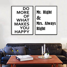 Load image into Gallery viewer, Poster Print Selection Quotations in Minimalist Typography - Do More of What Makes You Happy