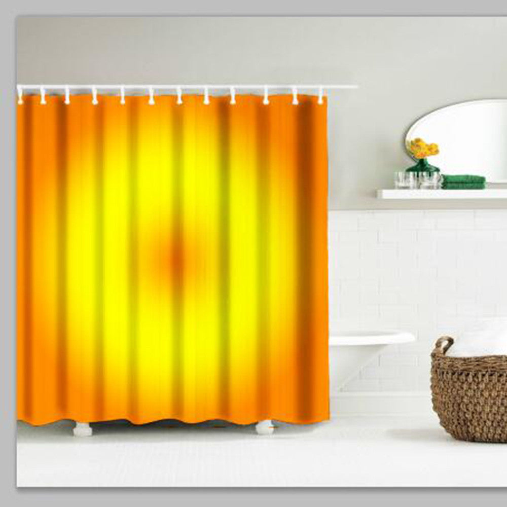 Bathroom Shower Curtain In Yellow Disc