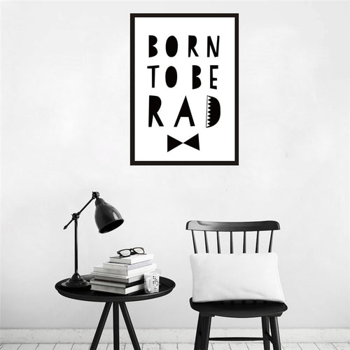 Typographic Print Post with the Quote - Born to be Rad
