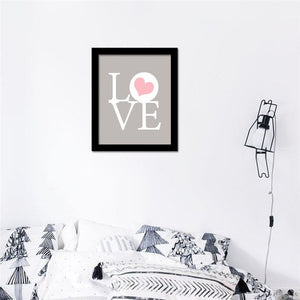 HAOCHU Modern Typography Life Love Quotes Print Poster Wall Pictures Canvas Painting quadro Spray Art for House Room Decor