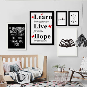 Assorted Typographic Minimalist Poster Prints