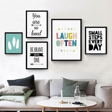 Load image into Gallery viewer, HAOCHU Nordic Minimalist Typography Print Motivational Life Love Quotes Poster Canvas Painting Wall Pictures Home Decor No Frame