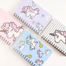Load image into Gallery viewer, Unicorn Fly Horse Hard Cover Coil Book Portable Pocket Notebook Diary Notepad Escolar Papelaria