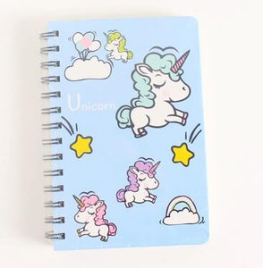 Unicorn Fly Horse Hard Cover Coil Book Portable Pocket Notebook Diary Notepad Escolar Papelaria