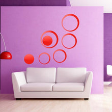 Load image into Gallery viewer, DIY Circles Wall Mirror Stickers Vinyl Art Mural Wall Sticker Room Decoration Sofa TV Background  Home Wall Decor Dropshipping