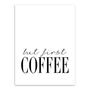 Modern Minimalist Coffee Sunshine Typography Poster Nordic Living Room Wall Art Print Picture Home Deco Canvas Painting Custom