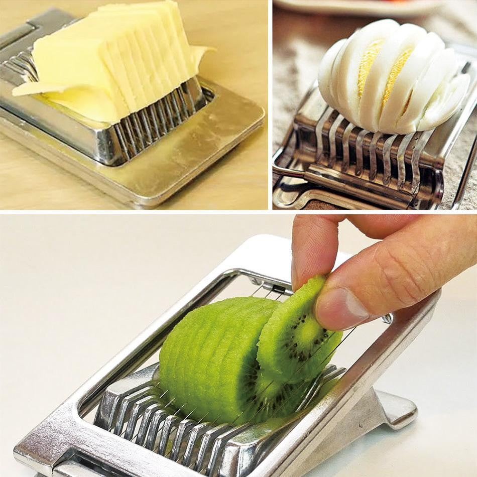 Essential Multipurpose Stainless Steel Wire Egg Slicer