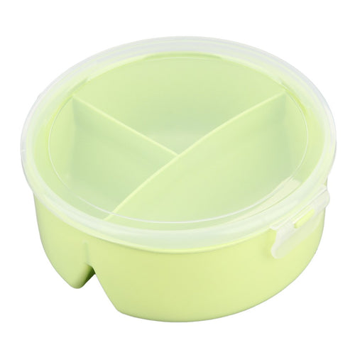 Round Shaped Plastic Lunch Box Container with Spoon