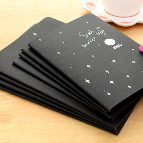 Student Creative Black Paper Notebook Diary Travel Note 3 Size