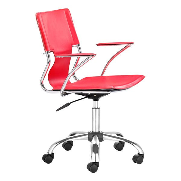 Zuo Trafico Office Chair Red