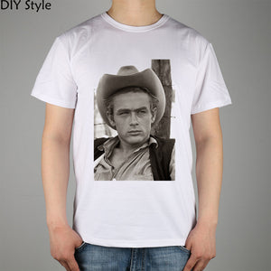 James Dean T-shirt cotton Lycra top 8718 Fashion Brand t shirt men new DIY high quality