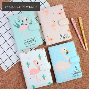 Cute Flamingo Hardcover Notebook Diary Pocket Notepad Promotional Gift Stationery Bullet Journal
