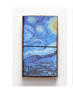 Famous Van Goah Painting PU Leather Cover Planner Notebook Diary Book Exercise Bullet Journal Notepad Gift Stationery