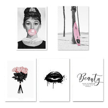 Load image into Gallery viewer, Audrey Hepburn Bubble Fashion Poster