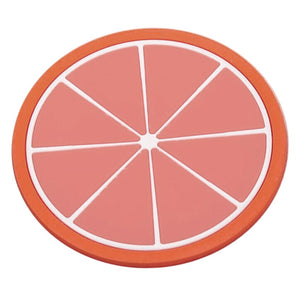 Fruit Coaster Colorful Silicone Cup Drinks Holder Mat Tableware Placemat