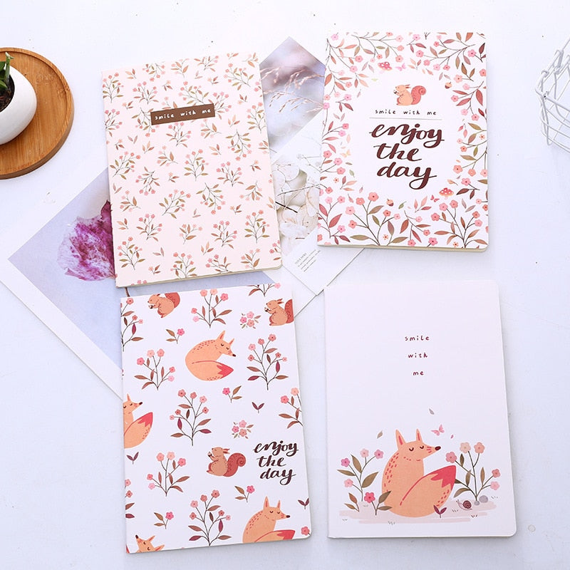 Enjoy The Day B5 Animal Notebook Diary Book Exercise Composition Notepad Escolar Papelaria Gift Stationery