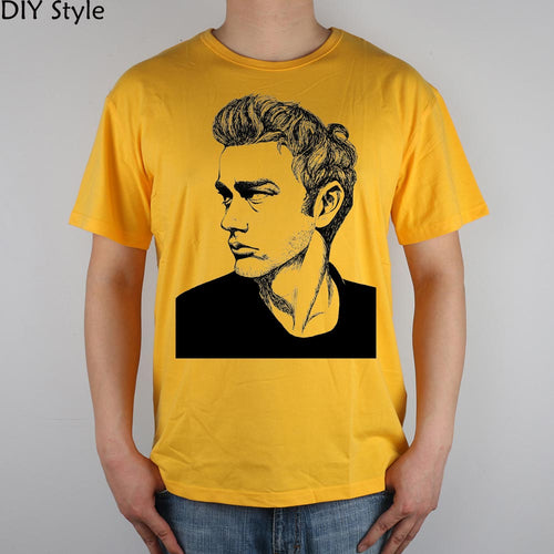James Dean T-shirt Top Lycra Cotton Men T shirt New Design High Quality Digital Inkjet Printing