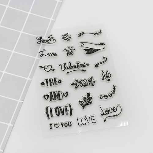 Artistic font in English transparent silicone stamp, diy Handmade Scrapbook Photo Album diary decoration tools soft Stamps