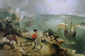 Pieter Bruegel - Fall of Icarus - Hand Painted Reproduction