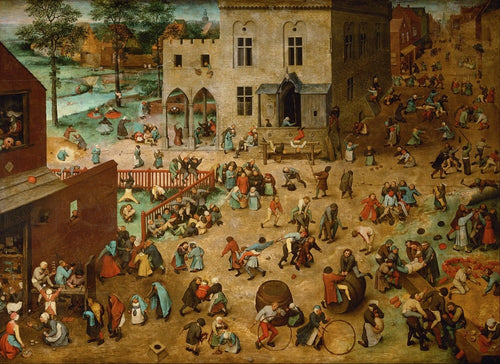 Pieter Bruegel - Children Games - Hand Painted Reproduction