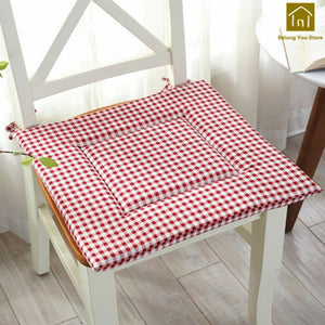 Decorative cotton seat pads with ties