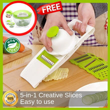 Load image into Gallery viewer, 5-in-1 Wonder Cutter Plus Free Express Food Chopper