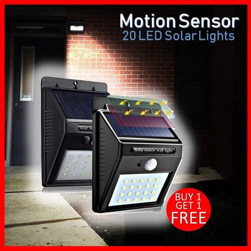 Solar Powered Motion Sensor LED Light (BUY 1 TAKE 1 FREE)