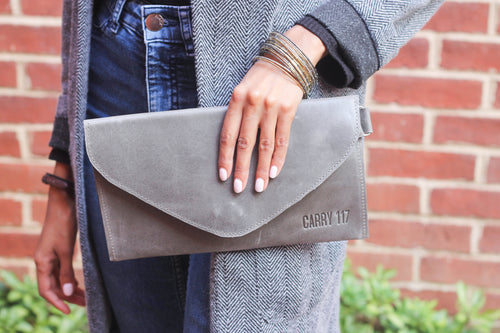 Gray Alem Clutch