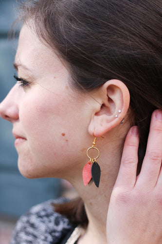 Lila Leather Earrings
