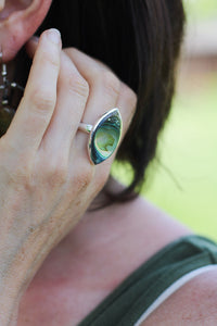 Mexican Abalone and Silver Ring