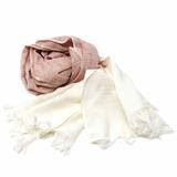 Rust and Cream Cotton Scarf