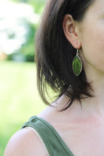 Mexican Silver Natural Leaf Earrings