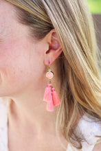 Lucia Pink Tassel Earrings