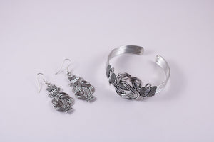 Knot Earrings and Cuff. Handmade in India