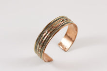 Copper and Brass Cuff, Healing Braid