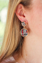 Multicolored Woven Stud Earrings