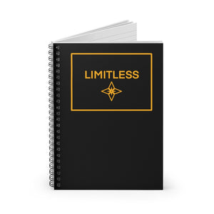 Yellow LIMITLESS Square Spiral Notebook - Ruled Line